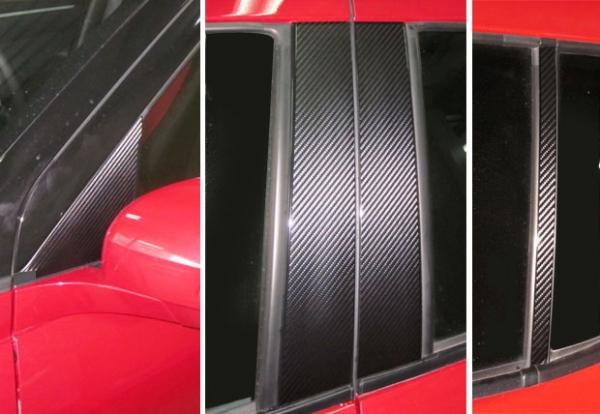 ステッカー【ハセプロ】マジカルカーボンシート スズキ スイフトZC72S(2010.9~) 4P×左右 シルバー