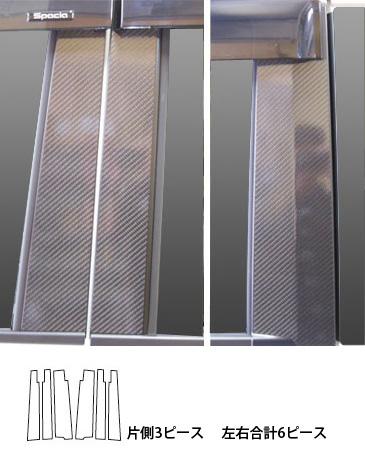 【ハセプロ】マジカルカーボンシート スズキ スペーシア MK32S(2013.3~) バイザーカット 3P×左右 シルバー