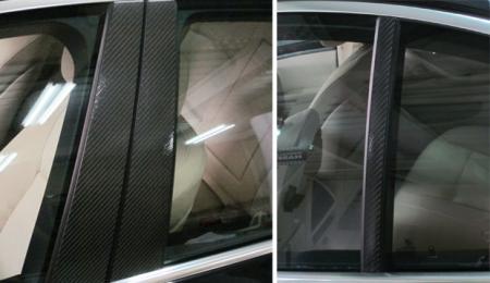 【ハセプロ】マジカルカーボンシート BMW 5シリーズ F10(2010.3~) 3P×左右 ブラック