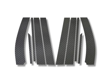 【ハセプロ】マジカルカーボンシート スズキ ワゴンR/ワゴンRスティングレー MH23S(2008.9~)5P×左右 ブラック