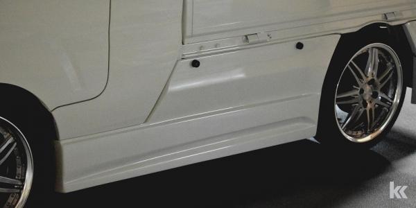 S500/510P ハイゼットトラック | サイドダクト/サイドパネル【ブラックス】ハイゼットトラック S500系 ジャンボ専用サイドパネル