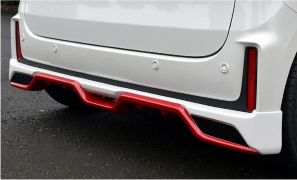 リアアンダースポイラー 塗装済 リアアンダー (3色塗分けまで)アーバンブラウンパールメタリック | ディフューザー【ブレス】スペーシア / スペーシア カスタム MK53S Spacia