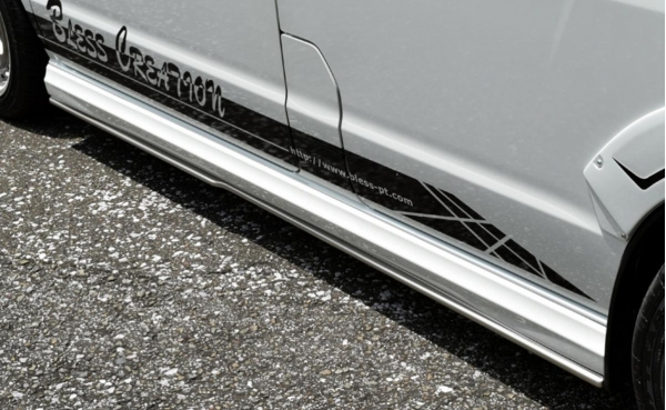 エブリイワゴン DA17W | サイドステップ【ブレス】エブリイワゴン DA17W アンダーサイドスポイラー 塗装済(塗分け無し)ブルーイッシュブラックパール3(ZJ3)