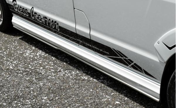 エブリイワゴン DA17W | サイドステップ【ブレス】エブリイワゴン DA17W アンダーサイドスポイラー 塗装済(塗分け無し)シルキーシルバーメタリック(Z2S)