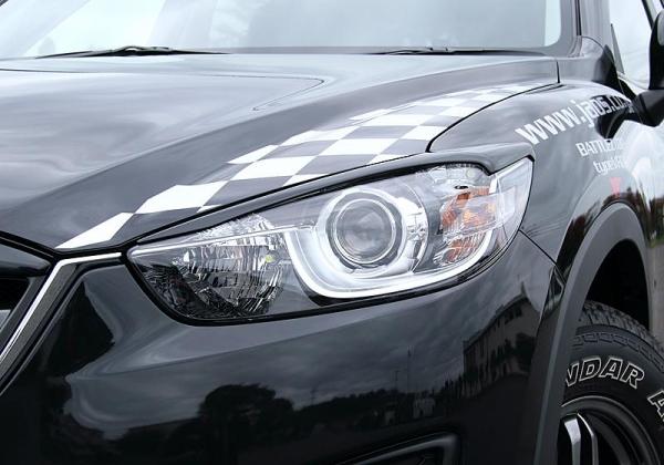 【ジャオス】JAOS ヘッドライトガーニッシュ CX-5 HEAD LIGHT GARNISH CX-5 12+ 【年式: 12.02-】 【適応: ALL】
