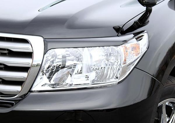 【ジャオス】JAOS ヘッドライトガーニッシュ ランドクルーザー 200系 HEAD LIGHT GARNISH ABS LC200 07-11 【年式: 07.09-11.12】 【適応: ALL】