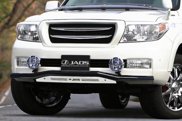 【ジャオス】JAOS フロントスキッドバー ブラック/ブラスト ランドクルーザー 200系 FRONT SKID BAR(BLACK/SHOT BLASTING) LC200 07-11 【年式: 07.09-11.12】 【適応: ALL】