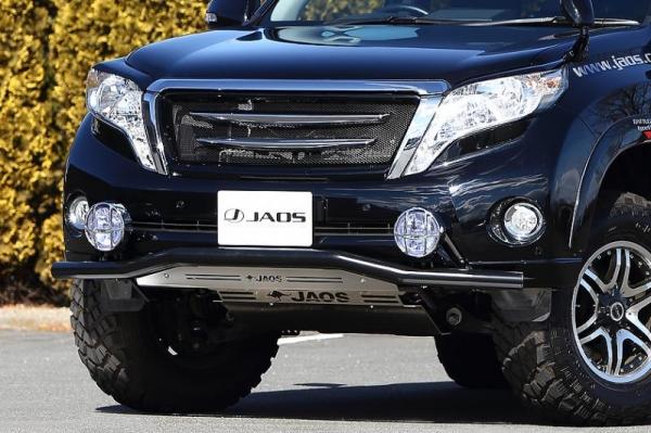 【ジャオス】JAOS フロントスキッドバー ブラック/ブラスト プラド 150系 FRONT SKID BAR(BLACK/SHOT BLASTING) LC150 PRADO 13 【年式: 13.10-】 【適応: ALL】