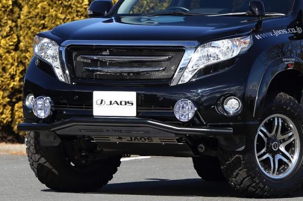 【ジャオス】JAOS フロントスキッドバー ブラック/ブラック プラド 150系 FRONT SKID BAR(BLACK/BLACK) LC150 PRADO 13 【年式: 13.10-】 【適応: ALL】
