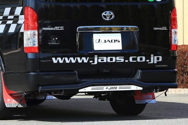 【ジャオス】JAOS リヤスキッドバー ブラック/ブラスト ワイド ハイエース 200系 REAR SKID BAR(BLACK/SHOT BLASTING) HIACE 04 (WIDE-BODY) 【年式: 04.08-】 【適応: ワイドボディー】