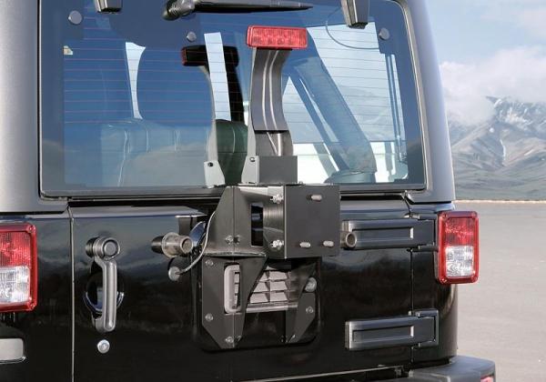 【ジャオス】JAOS スペアタイヤブラケット JAOS リヤバンパーカバー装着車 ラングラー JK 年式:07.03- 適応:全車