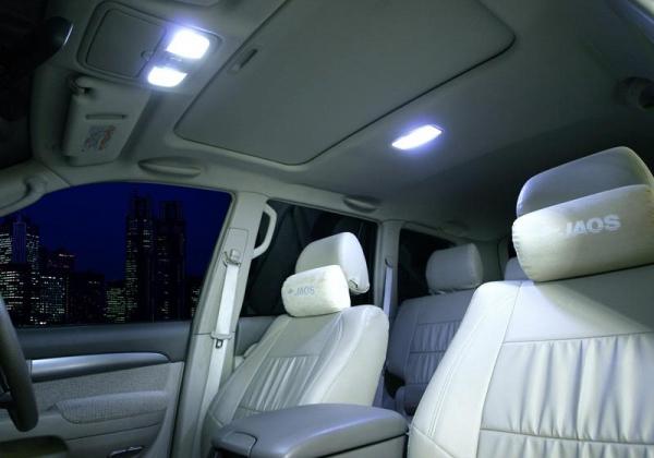 【ジャオス】JAOS LEDルームランプ プラド 120系 LED ROOM LAMP 120PRADO 02+ (FRONT/CENTER/REAR) 【年式: 02.10-09.08】 【適応: 3dr未確認】