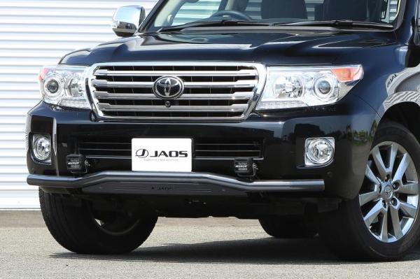【ジャオス】JAOS フロントスキッドバー 12-15 ブラック/ブラック ランドクルーザー 200系 FRONT SKID BAR BLACK/BLACK ランドクルーザー 200 【年式: 12.01-15.07】 【適応: ALL】