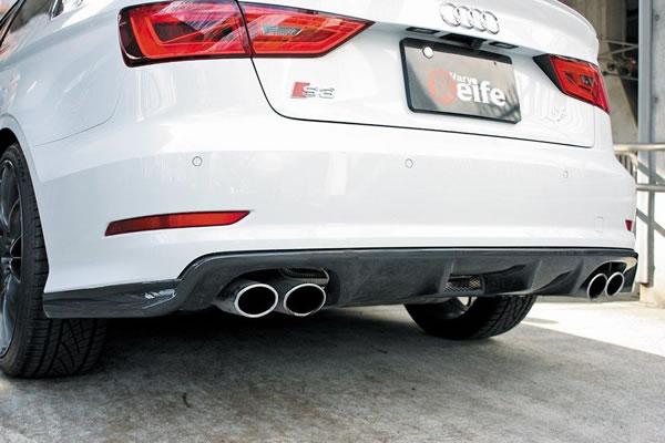 Audi S3 SEDAN 8V   リアアンダー / ディフューザー【ガレージベリー】S3 8V SEDANリアディフューザー