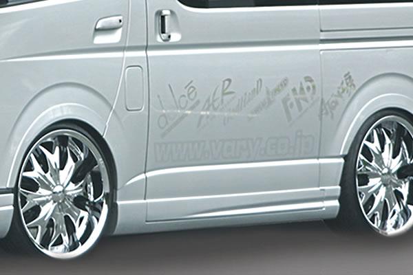 200 ハイエース 標準ボディ | サイドステップ【ガレージベリー】ハイエース 200系 4型 ワイドボディ サイドステップ(4P ロング用)