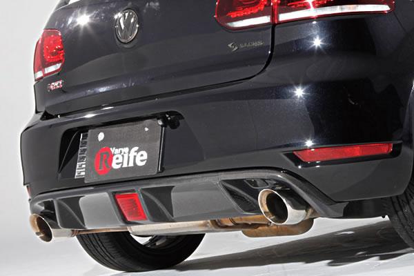 VW GOLF VI | リアアンダー / ディフューザー【ガレージベリー】GOLF 6 GTI リアディフューザー