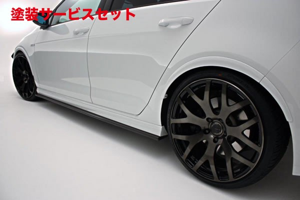 ★色番号塗装発送フォルクスワーゲン ゴルフ 7 VW GOLF VII | サイドステップ【ガレージベリー】GOLF 7 R サイドステップ