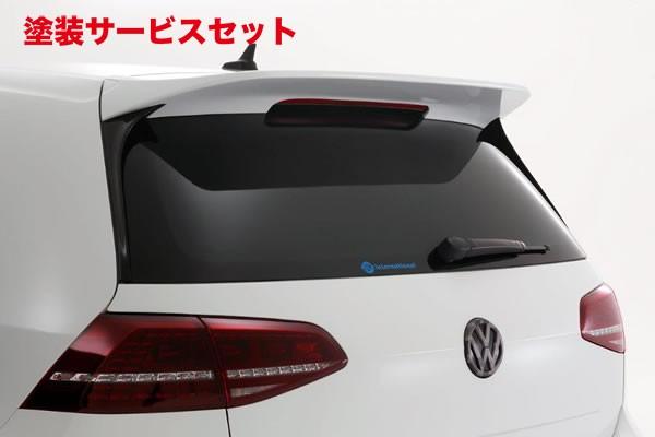 ★色番号塗装発送フォルクスワーゲン ゴルフ 7 VW GOLF VII   ルーフスポイラー / ハッチスポイラー【ガレージベリー】GOLF 7 R リアルーフスポイラー