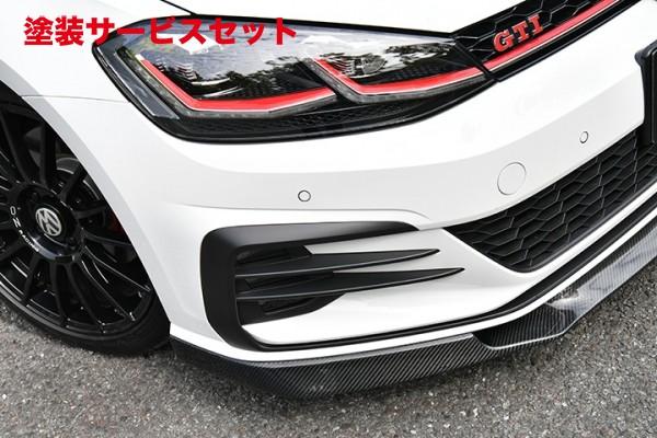★色番号塗装発送フォルクスワーゲン ゴルフ 7 VW GOLF VII | フロントリップ【ガレージベリー】GOLF 7.5 GTI フロントリップスポイラー