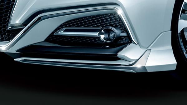 22 クラウン | フロントバンパー カバー【トヨタモデリスタ】クラウン 220系 RS フロントウイングスポイラー 塗装済 ブラック