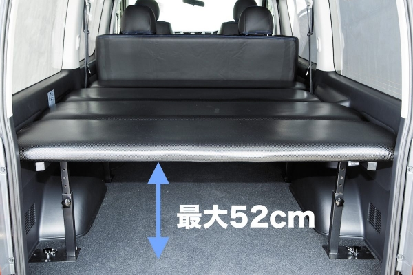 200 ハイエース | ベットキット【ブルーム】ハイエース 200系 スーパーGL ブルーム専用 車中泊 ベッドキット ベッド本体の色:ブラック