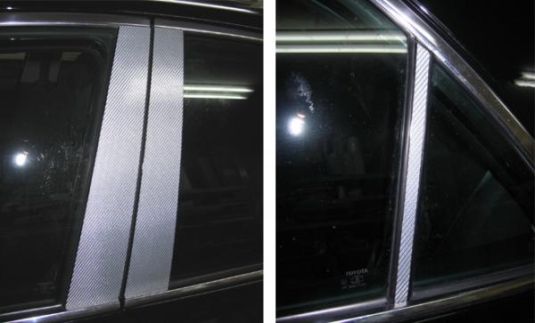 120 マークX | その他 外装品【ハセプロ】マークX GRX120系 (2004.11~2006.9) マジカルカーボン ピラーセット バイザーカットタイプ6ピース カラー:ガンメタ