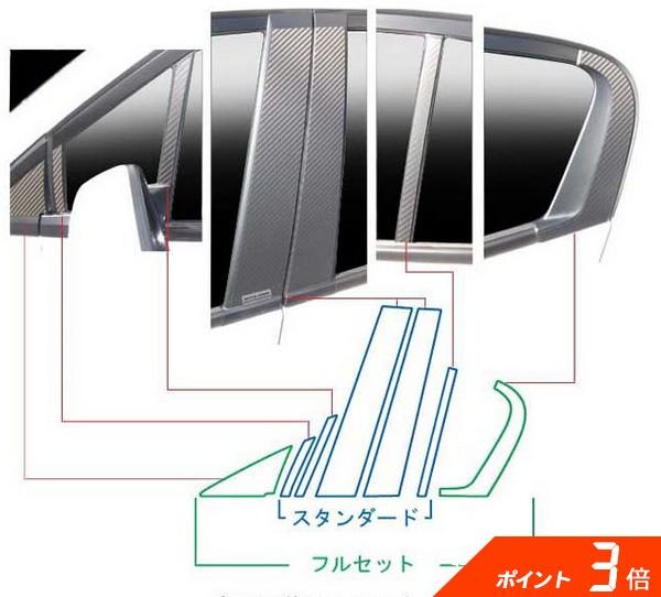 ZE2/3 インサイト   その他 外装品【ハセプロ】インサイト ZE2 マジカルカーボン ピラーセット フルセット 片側7ピース カラー:レッド