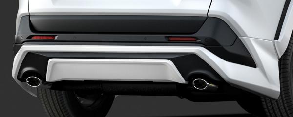 【★送料無料】 RAV4 XA50 | リアバンパーカバー / リアハーフ【ティーアールディー】新型RAV4 XA50系 リアバンパーICS無車 ホワイトパールクリスタルシャイン