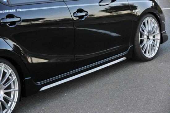 サイドステップ【ノブレッセ】AQUA タイプユーロ サイドステップ 塗装済品 [カラー]ブラックマイカ 209 (単色塗り)