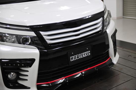 フロントグリル【ノブレッセ】ヴォクシー 80 フロントグリル/トップモール付 ツートン塗装済ブラック (202)×ガンメタ ルーバー