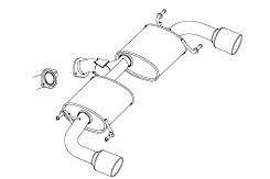 CX-5 | ステンマフラー【フジツボ】CX-5 KEEFW 2.0 ガソリン 2WD AUTHORIZE S