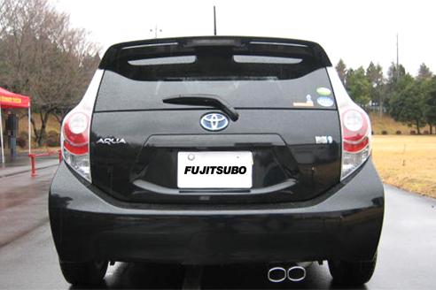 NHP10 アクア | ステンマフラー【フジツボ】アクア NHP10 AUTHORIZE S 1.5 2WD エアロ無 H24.8~