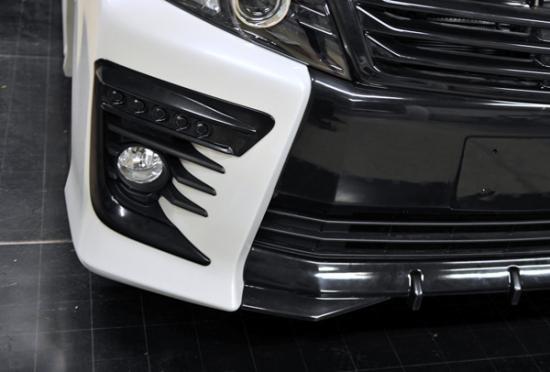 フォグカバー【ノブレッセ】ヴォクシー 80 5連フォグダクトフレーム 塗装済 ブラック (202)