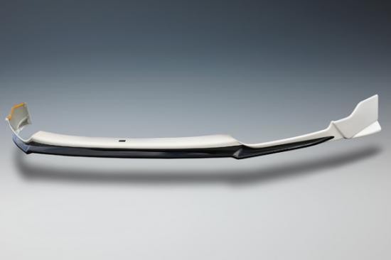 フロントリップ【ノブレッセ】フィット3 フロントリップスポイラー 塗分塗装済 ルーセブラックメタリック (NH821M)/ブラック (202)
