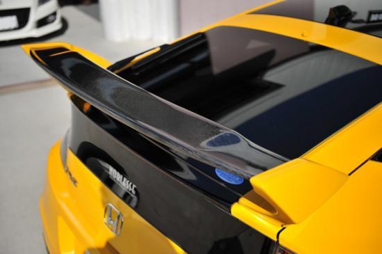 リアウイング / リアスポイラー【ノブレッセ】CR-Z ZF1/2 リアウイング FRP/カーボン製 塗装済 プレミアムホワイトパール NH624P/クリアー