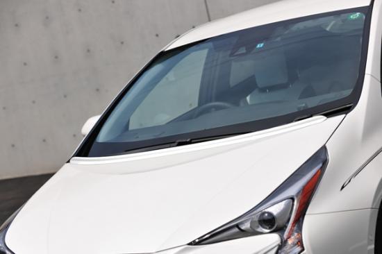 ボンネットスポイラー【ノブレッセ】汎用ボンネットスポイラー タイプA 50系プリウス 塗装済 スーパーホワイトII (040)