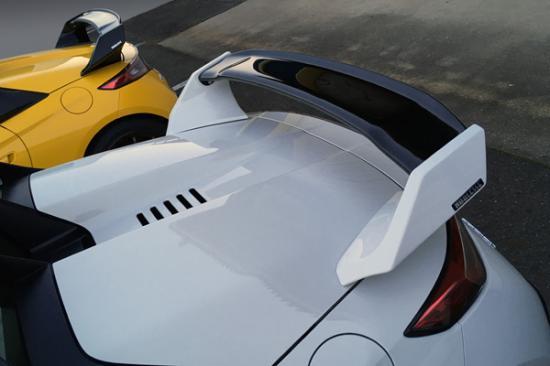 リアウイング / リアスポイラー【ノブレッセ】S660 可変式リアウイング FRP/カーボン製 塗装済 ブラック (202)/クリアー