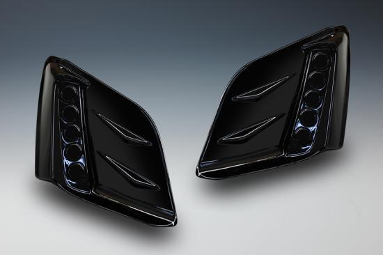 フォグカバー【ノブレッセ】S660 フォグダクトフレーム 5連穴無 未塗装 [オプション]5連反射シート付