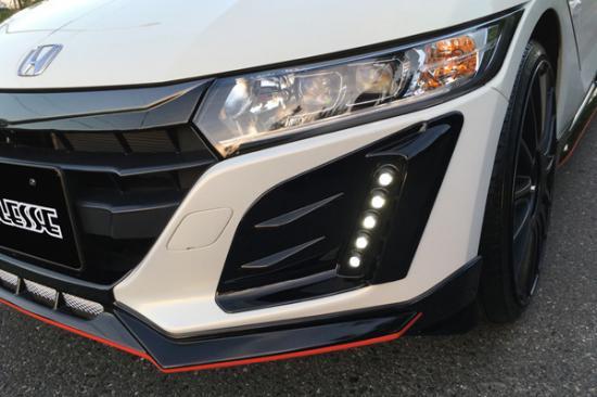 フォグカバー【ノブレッセ】S660 フォグダクトフレーム 5連穴有 塗装済 ブラック (202)