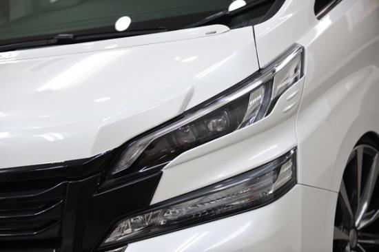 アイライン【ノブレッセ】ヴェルファイア 30系 アイライン 塗装済 シルバーメタリック (1F7)