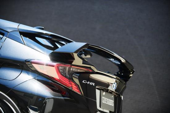 リアウイング / リアスポイラー【ノブレッセ】C-HR 可変式リアウイング FRP/カーボン製 塗装済 ブラックマイカ (209)×クリアー
