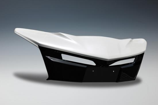 フロントバンパー カバー【ノブレッセ】プリウス 50系 前期 マークレスグリルガーニッシュ センサー無 未塗装