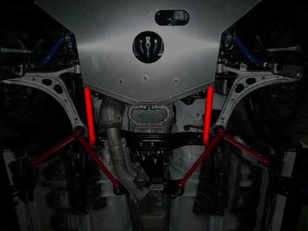 GRB/GRF インプレッサハッチバック STI | 補強パーツ / 室外 その他【オートプロデュース A3】インプレッサ GR ボディサポートシリーズ クロスメンバーサポート レッド
