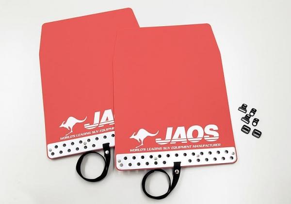 180 ハイラックスサーフ   泥除け / マッドガード【ジャオス】JAOS マッドガード3 汎用タイプ Lサイズ レッド