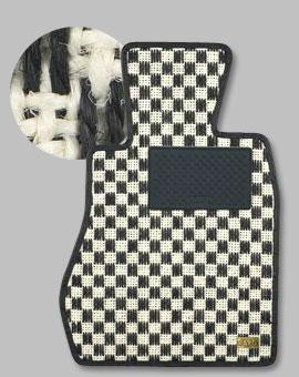 VOLVO XC60 DB | フロアマット【カロ】VOLVO XC60 DB 右ハンドル フロアマット シザル 1台分(足元のみ) ホワイト/ブラック