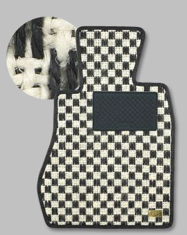 VOLVO XC60 DB   フロアマット【カロ】VOLVO XC60 DB 右ハンドル フロアマット シザル リアゲートのみ ホワイト/ブラック