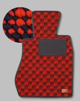右ハンドル ブリリアントレッド フラクシー DB フロアマット XC60 1台分(足元のみ) DB | VOLVO フロアマット【カロ】VOLVO XC60