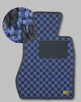 ランサーエボ 10 | フロアマット【カロ】ランサーエボリューション X CZ4A MT車用 フロアマット シザル ブルー/ブラック
