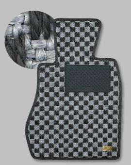 ランサーエボ 10 | フロアマット【カロ】ランサーエボリューション X CZ4A MT車用 フロアマット シザル シルバー/ブラック