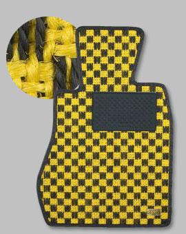 ランサーエボ 10 | フロアマット【カロ】ランサーエボリューション X CZ4A MT車用 フロアマット シザル イエロー/ブラック